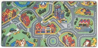 Street Play Mat For Kids - My Neighborhood
