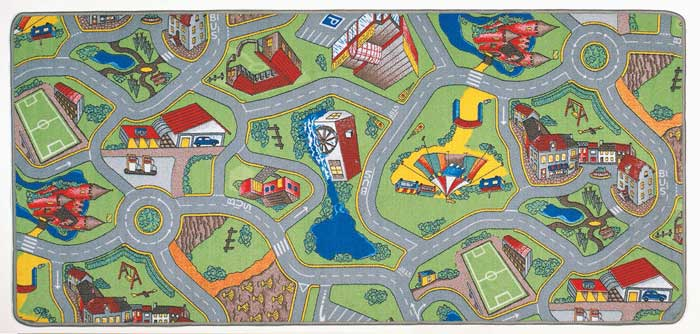 Streets Play Mats For Kids Rug Cars More