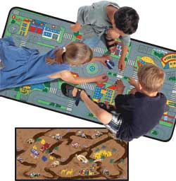 Road Play Carpet, Play Mats and Play Rugs For Kids