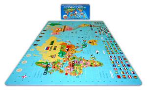 World Map Puzzle Mat