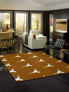 Texas Longhorns Rug - College Area Rugs
