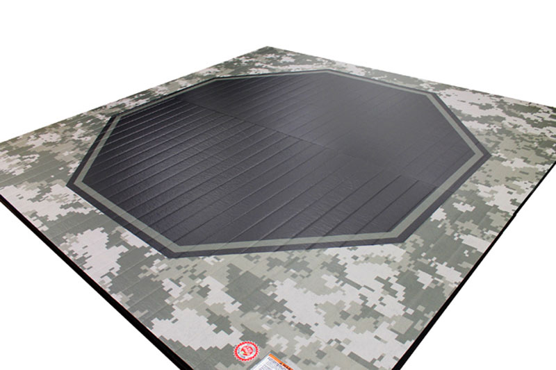 Mma Octagon Liteweight Mat With Camouflage Pattern