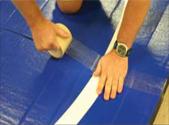 Wrestling Mat Tape Installation