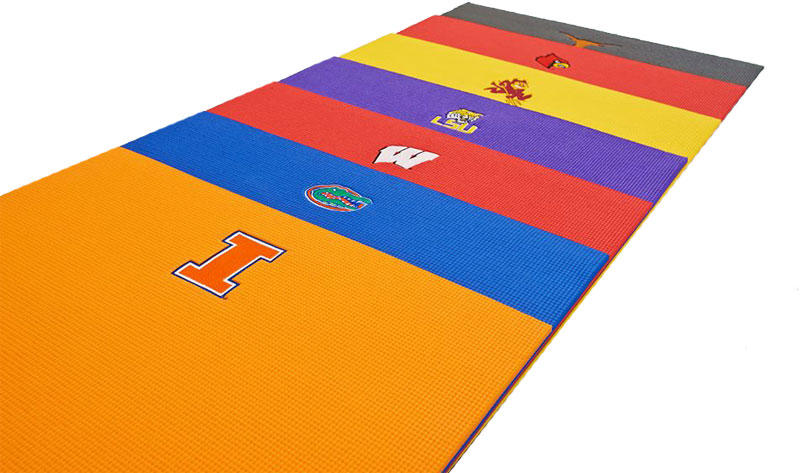 Embroidered College Logo Yoga Mats