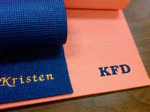 Custom Embroidered Yoga Mats