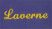 Custom Yoga Mat with Laverne Font