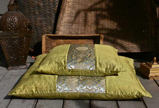 Beautiful Silk Zafu Amp Zabuton Meditation Cushions