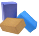 yoga blocks - foam blocks, cork blocks, wood blocks / bamboo blocks